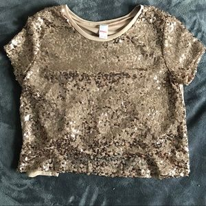BONGO | Gold | Crop Top | Sequins | Cut Back 💛